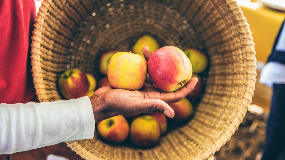 An apple a day makes for healthy living