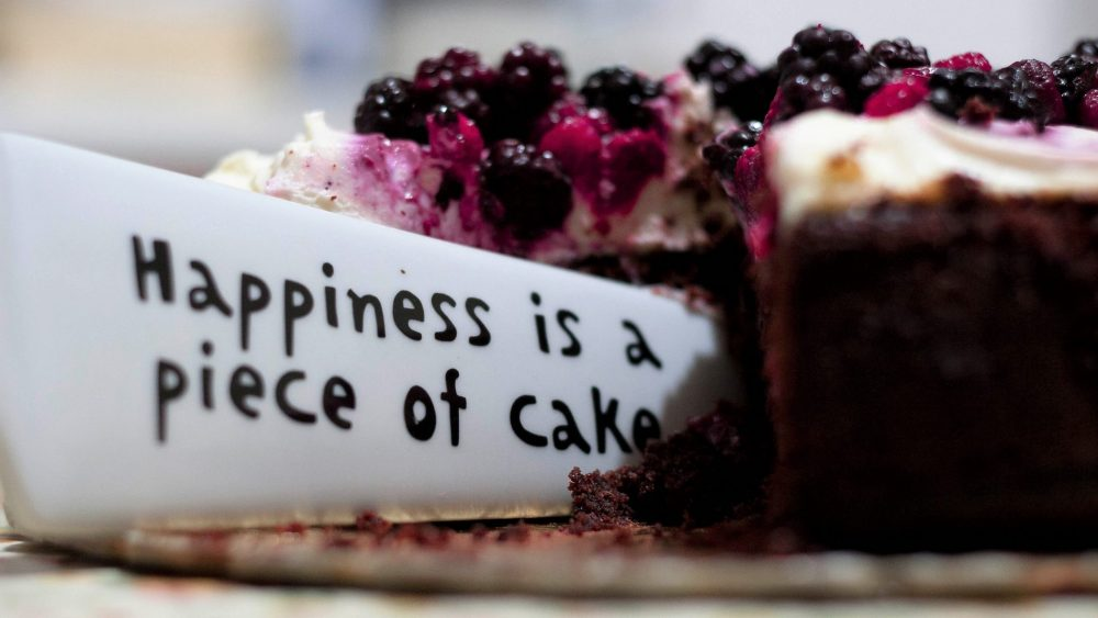 Healthy relationship with food involves eating cake without guilt or shame