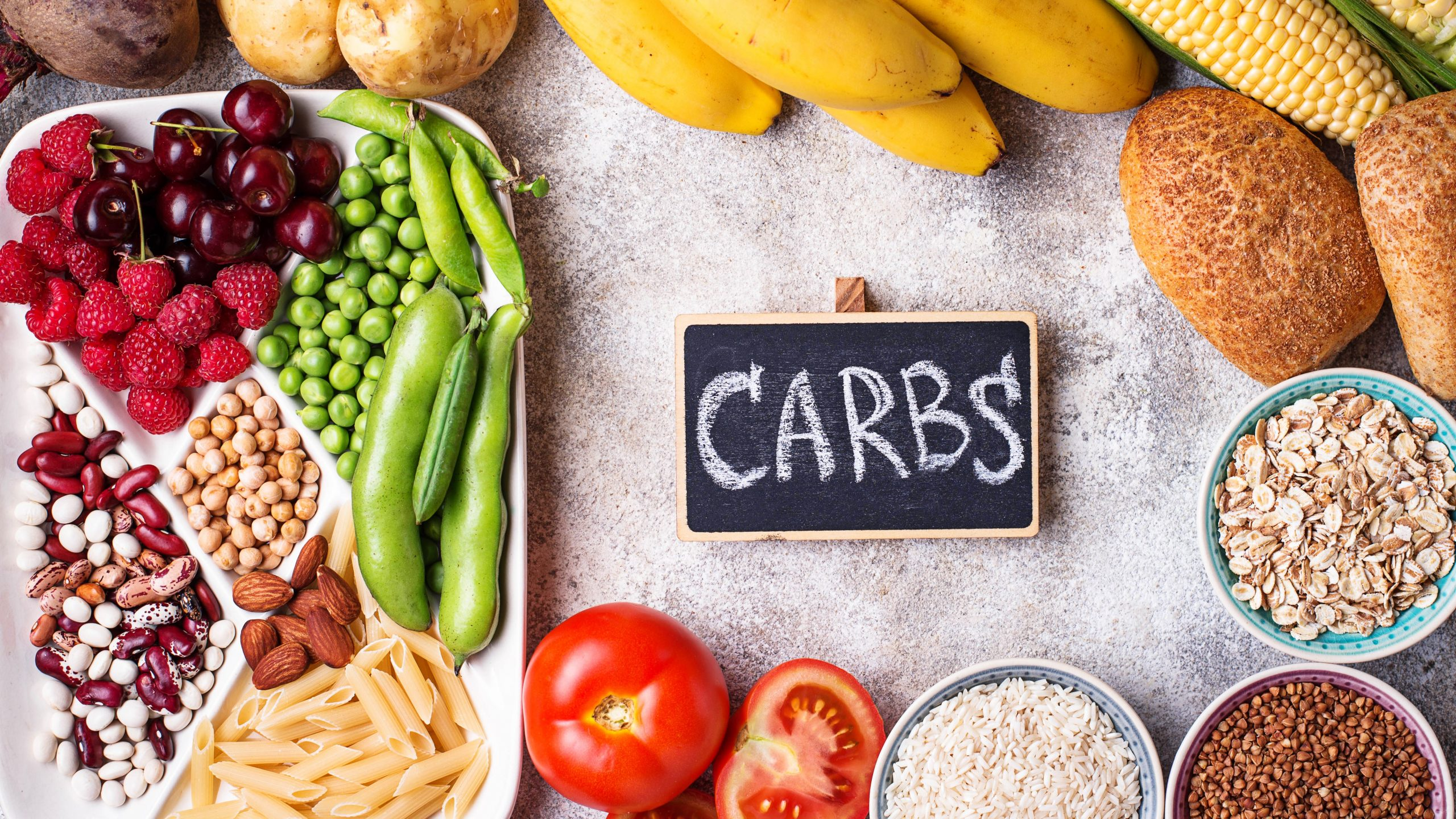 What are carbohydrates - Food sources of carbohydrates. Cereals, beans, fruits, vegetables berries nuts and bread.
