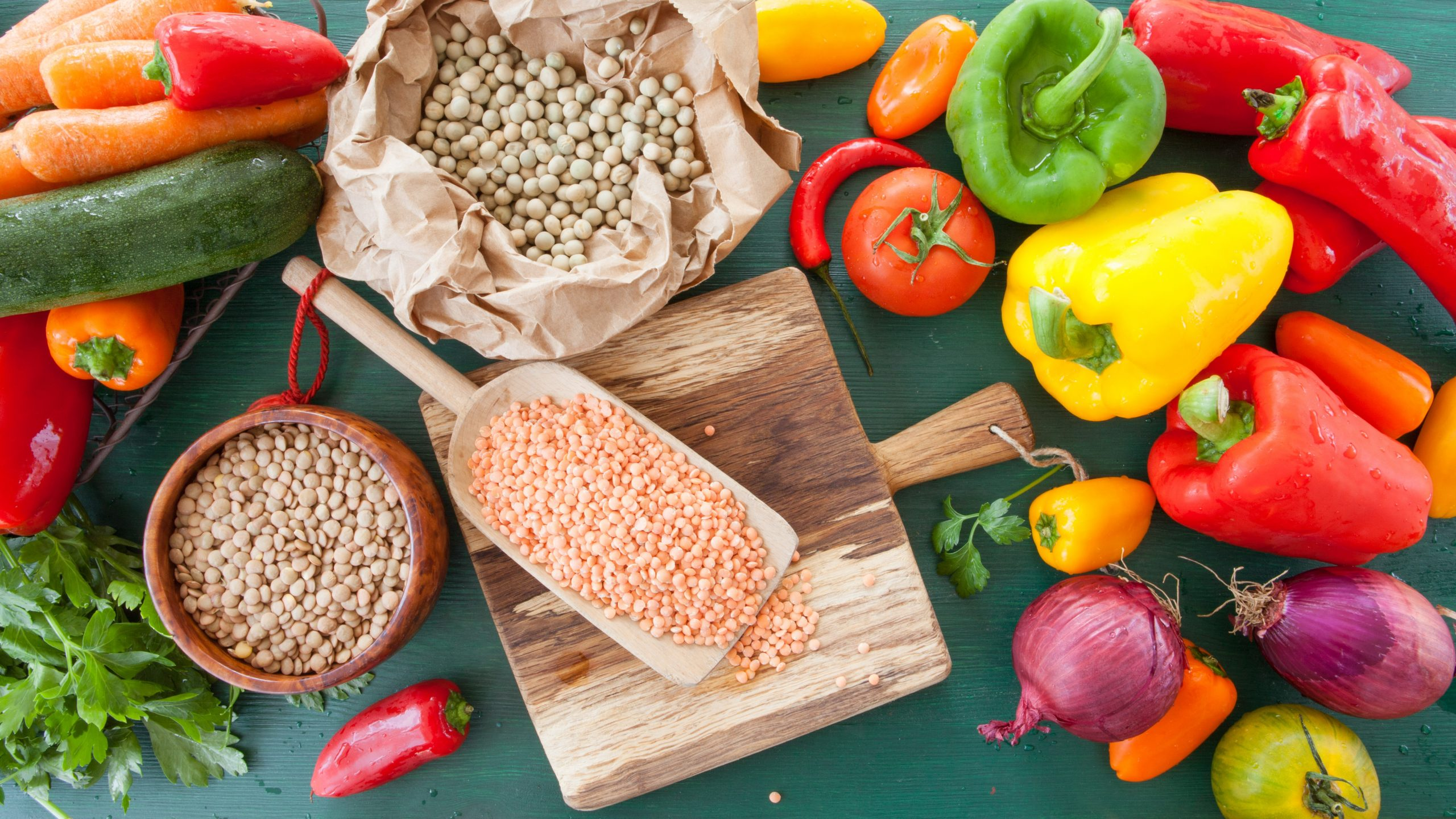 What are carbohydrates - Fresh vegetables and legumes.